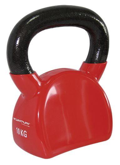 Tunturi Vinyl Kettlebell červená 10 kg