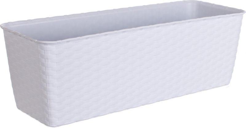 Stefanplast Samozavlažovací truhlík Natural 50 cm, bílý