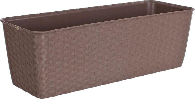Stefanplast Samozavlažovací truhlík Natural 50 cm hnědošedý