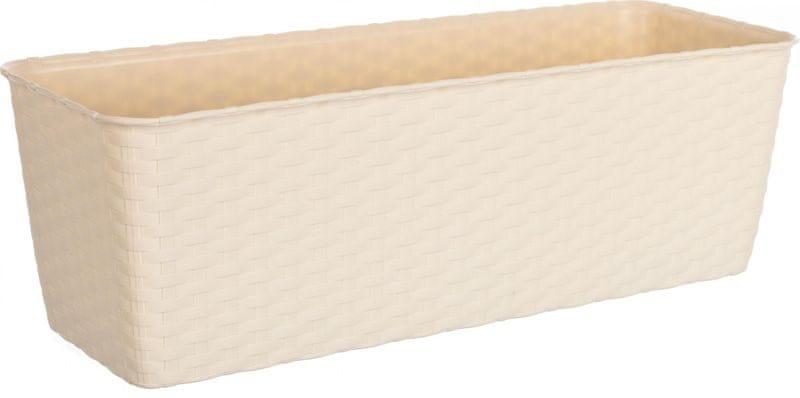 Stefanplast Samozavlažovací truhlík Natural 50 cm béžová