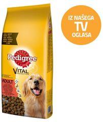 Pedigree hrana za odrasle pse z govedino in piščancem 15 kg
