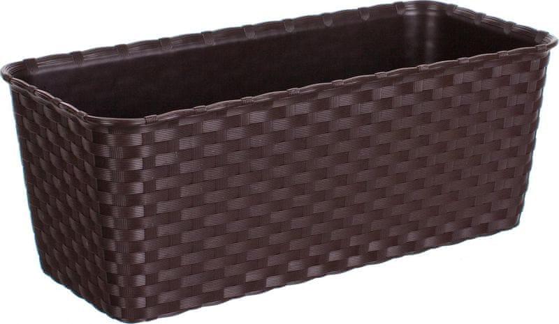 Stefanplast Truhlík samozavlažovací 30 cm, hnědý