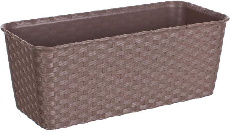 Stefanplast Truhlík samozavlažovací 30 cm, světle hnědý