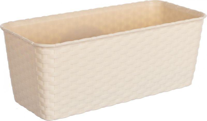 Stefanplast Truhlík samozavlažovací 30 cm, krémový