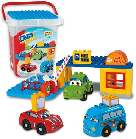 Unico Cars for kids - Parking w pudełku