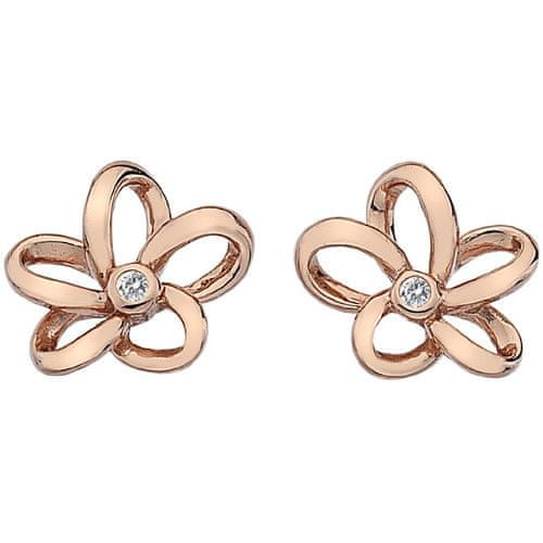 Hot Diamonds Bronzové náušnice Hot Diamonds Paradise Rose Gold DE453