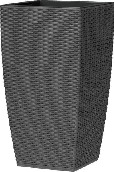 Emsa Květináč CASA MESH 30x58 cm, tmavě šedá