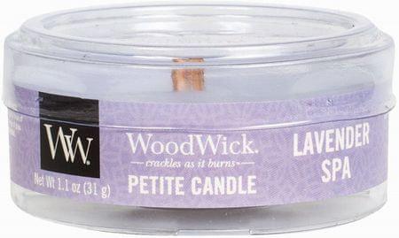 Woodwick sveča Petite, Lavender Spa (66492)
