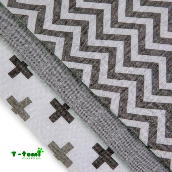 T-Tomi Bambusové BIO sada šedé stříšky 3 ks