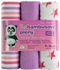 T-tomi BIO bambusove plenice, roza/beli vzorci