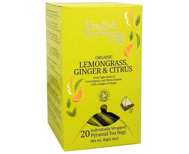 English Tea Shop Čaj Citrónová tráva, zázvor & citrusy 20 pyramidek
