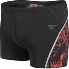 Speedo Kąpielówki Fit Graphic Aquashort Black/Lava Red