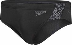 Speedo Kąpielówki Boom Splice 7cm Brief Black/Oxid Grey