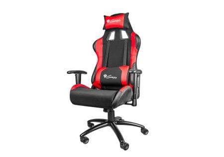 Genesis Gaming gamerski stol Nitro 550, črno-rdeč
