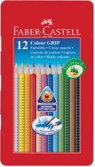 Faber Castell GRIP barvice Grip 12/1, kovinska embalaža
