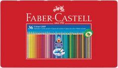 Faber Castell GRIP barvice Grip 36/1, kovinska embalaža