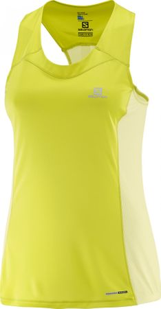 Salomon športna majica brez rokavov Agile, rumena, S