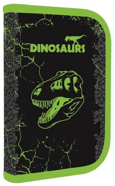 Karton P+P Penál 1 patrový 2 klopy Premium Dinosaur