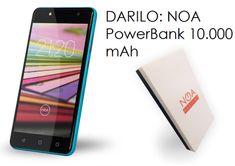 NOA mobilni telefon H3se LTE, plavi + Poklon: powerbank