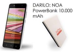 NOA mobilni telefon H3se LTE, bijeli + Poklon: powerbank