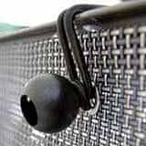 TENAX SPA Elastická stahovací úchytka FISSARETE na stínící sítě, černá 10 ks