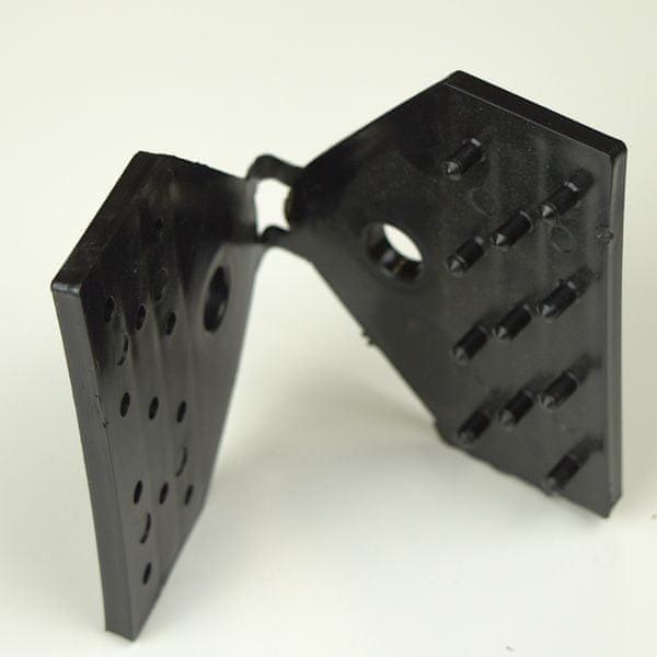 TENAX SPA Úchyt na stínící sítě CLIPS RETE 100, černá