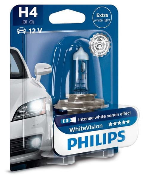Philips WhiteVision H4, 12 V, 60/55 W, 1 ks