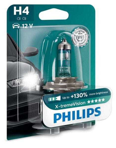 Philips X-tremeVision H4, 12 V, 60/55 W, 1 ks