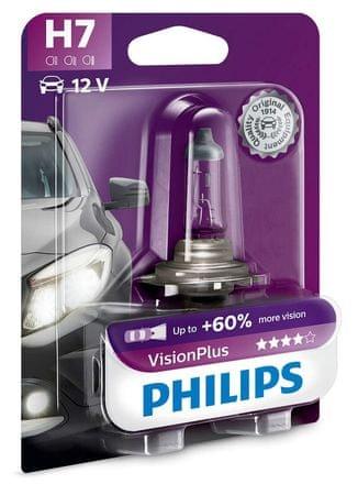 Philips Żarówka samochodowa VisionPlus H7, 12 V, 55 W (1 szt.)