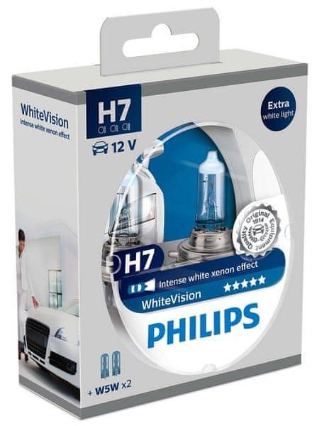 Philips WhiteVision H7, 12 V, 55 W, 2 ks