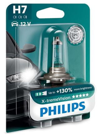 PHILIPS (12972XV+B1) X-tremeVision H7 Autó izzó, 12 V, 55 W
