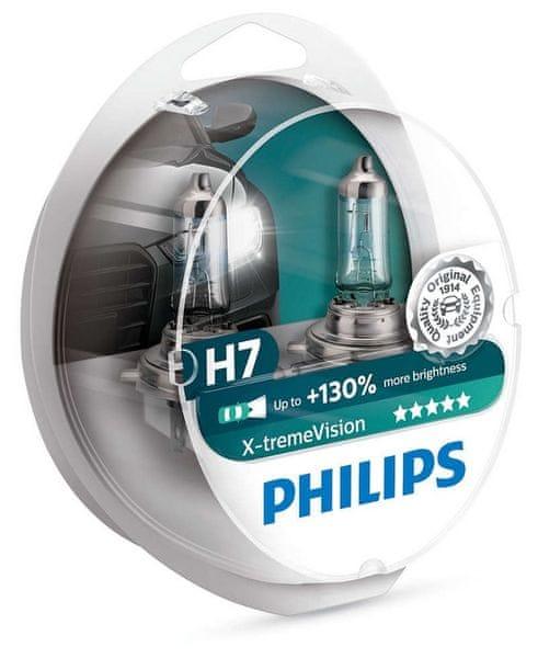 Philips X-tremeVision H7, 12 V, 55 W, 2 ks