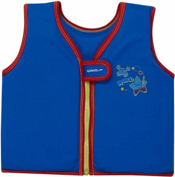 Speedo Sea Squad Swim Vest Neon Blue 4-6