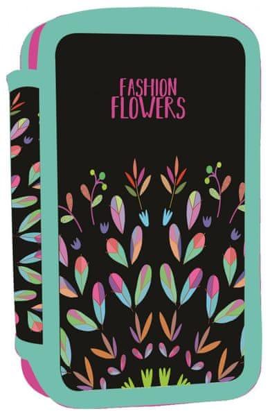 Karton P+P Penál 3 patrový Fashion flowers
