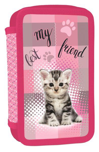 Karton P+P Penál 3 patrový Kočka