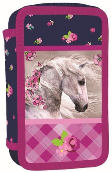 Karton P+P Penál 3 patrový Kůň