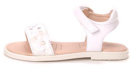 Geox dekliški sandali Karly 28 bela