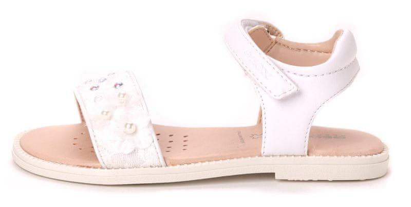 Geox dívčí sandály Karly 28 bílá