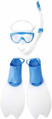 Speedo Zestaw Glide Scuba Set Junior Blue/White