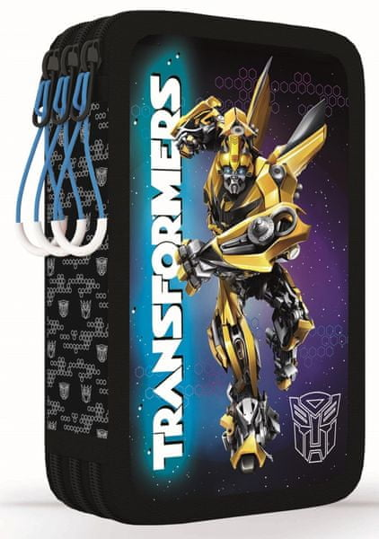 Karton P+P Penál 3 patrový Transformers