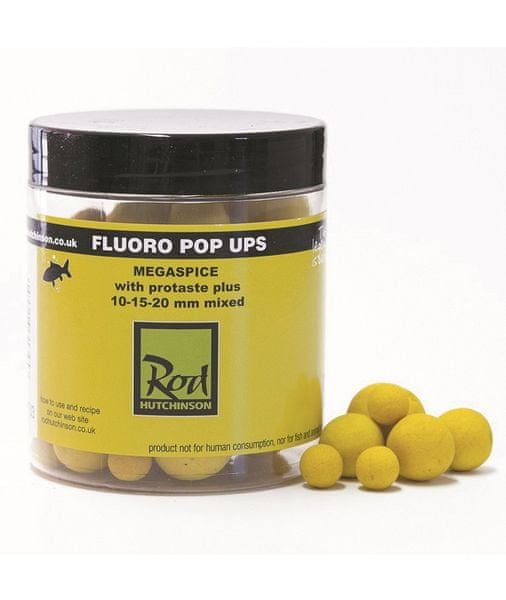 ROD HUTCHINSON Fluoro Pop-Up Yellow Megaspice 10-15-20 mm
