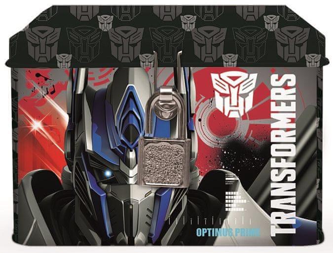Karton P+P Plechová pokladnička Transformers