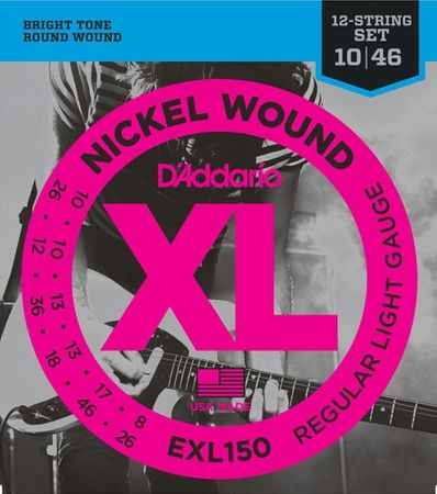 Daddario EXL150 Struny pro dvanáctistrunnou elektrickou kytaru