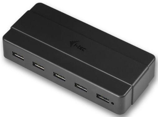I-TEC Rozbočovač (7x USB 3.0) + napájecí adaptér, černá