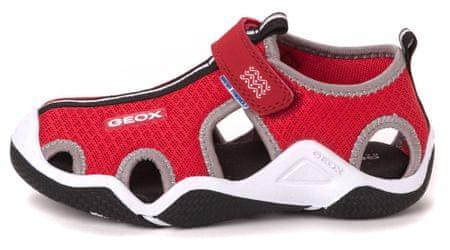 Geox chlapecké sandály Wader 31 červená