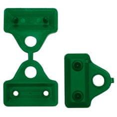 TENAX SPA Úchyt na stínící sítě CLIPS 3,5cm, zelený