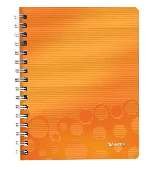 Blok na psaní Leitz WOW A5 čtverečkovaný metalicky oranžový
