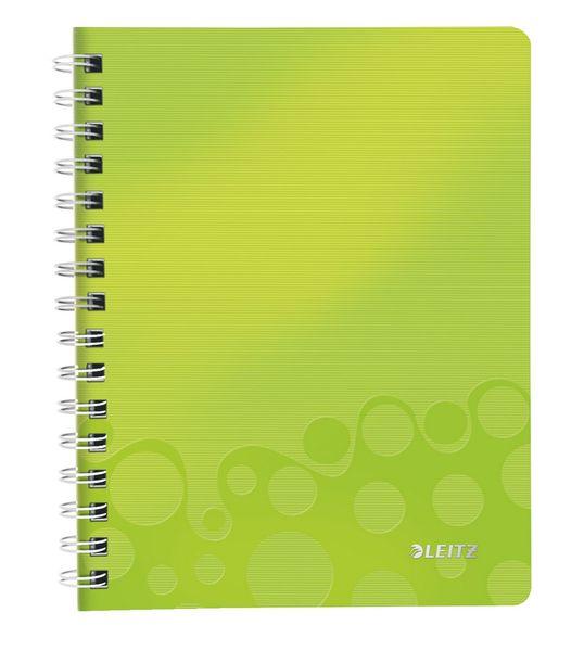 Blok na psaní Leitz WOW A5 čtverečkovaný metalicky zelený