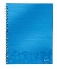 Blok organizační Leitz WOW A4 linkovaný metalicky modrý