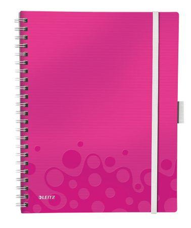 Leitz Blok mobilní WOW A4 linkovaný metalicky růžový